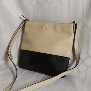 Genuine Kate Spade NY Black Tan Leather Purse New!
